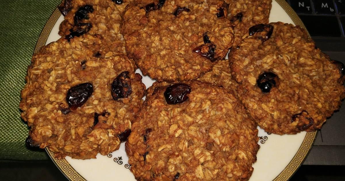 Овсяное печенье с сухофруктами рецепт с фото