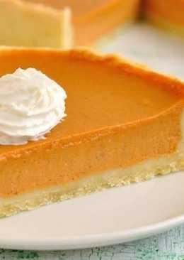 Десертный постный пирог с тыквой