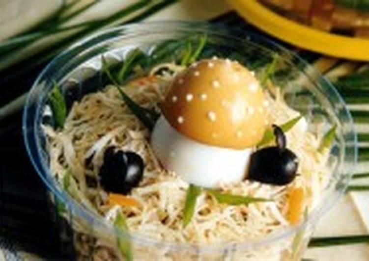 Салат пикантный с грибами