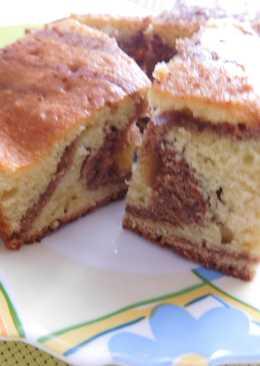 """Пирог """"Зебра"""", любимый пирог моего сыночка"""