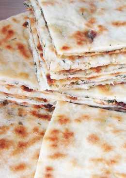 Хычины с сыром зеленью