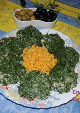 """Холодная закуска """"Малахит"""" со скумбрией"""