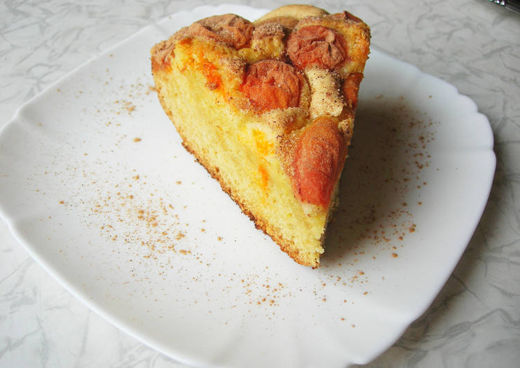 Абрикосовый пирог. Самый простой и быстрый рецепт