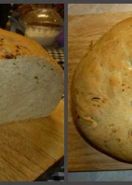 Хлеб оливковый с печёным чесноком
