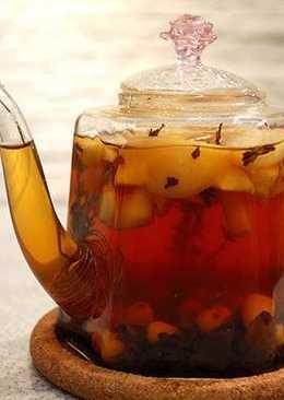 Имбирный чай с яблоками. Полезен и для очищения организма и для укрепления иммунитета в период простуд