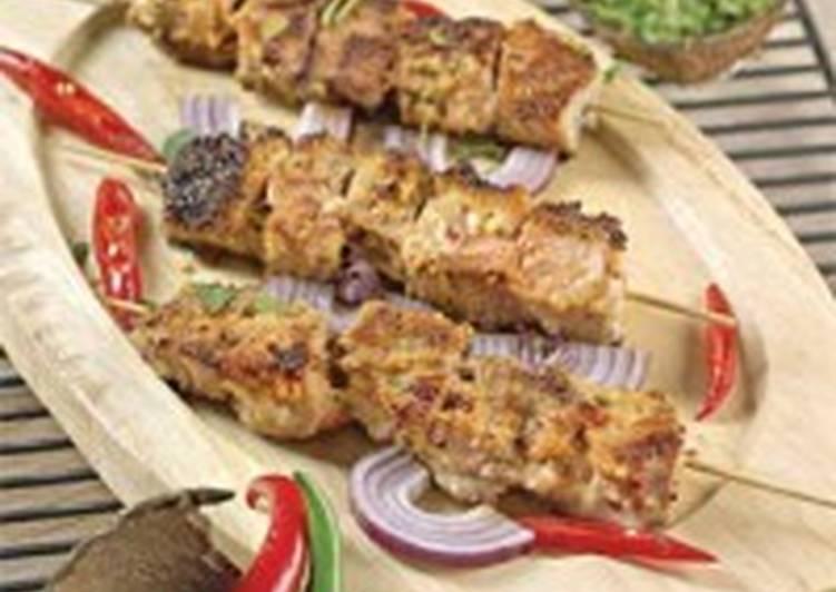 Шашлык из свинины с кокосовой стружкой