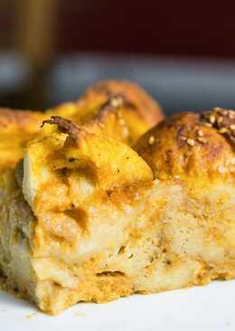 Имбирный хлебный пудинг с тыквой