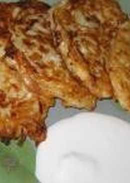 Капустные оладушки на кефире