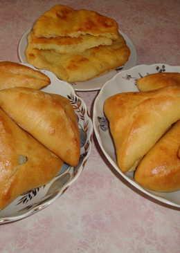 Пирожки с рисом и яйцом. Тесто на Кефире без дрожжей