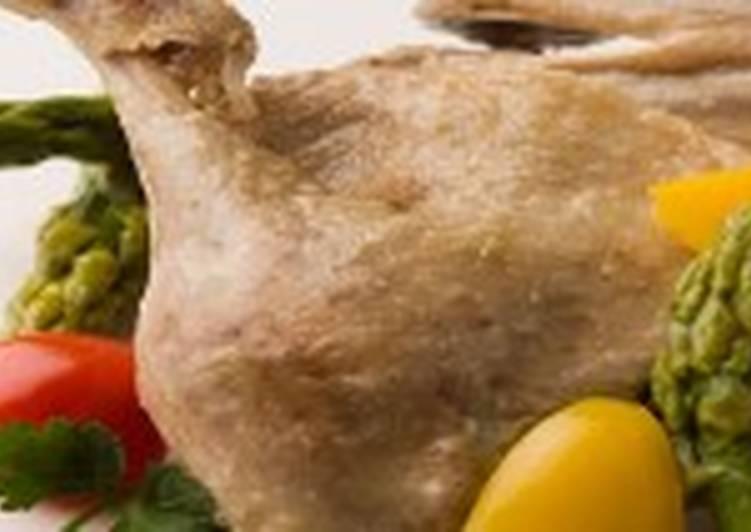Утка паровая с пивным соусом