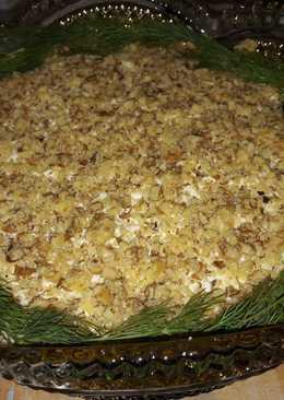 копченая грудка с ананасом салат рецепт