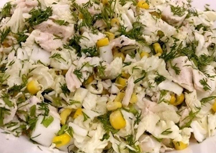 Диетический, полезный, легкий салат с пекинской капустой. Рецепт