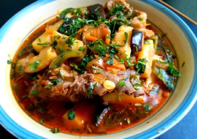 Рецепт рагу с баклажанами и картофелем