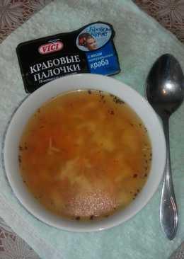 Суп картофельный с крабовыми палочками