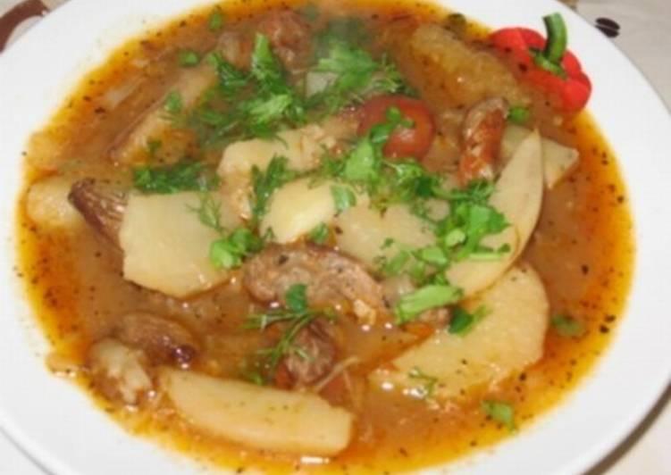 Татарский суп с говядиной