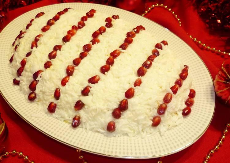 салат гранатовые бусы рецепт с сыром