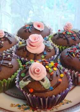 Маффины шоколадные с начинкой