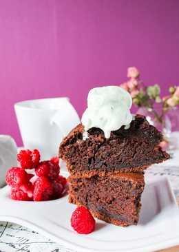 Шоколадный влажный пирог
