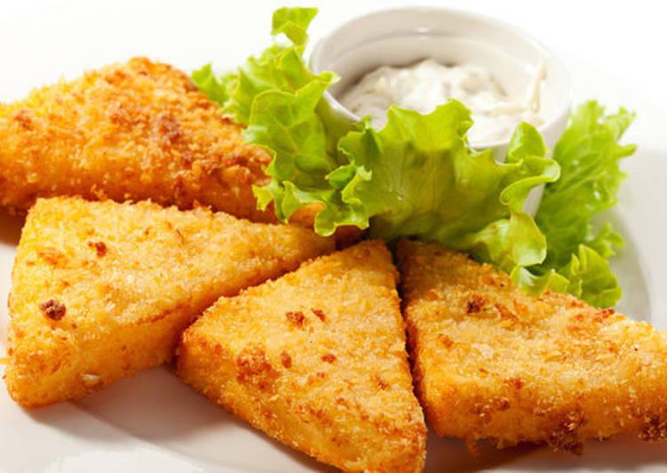 Сыр жареный в панировке - Хрустящая закуска из сыра на праздник