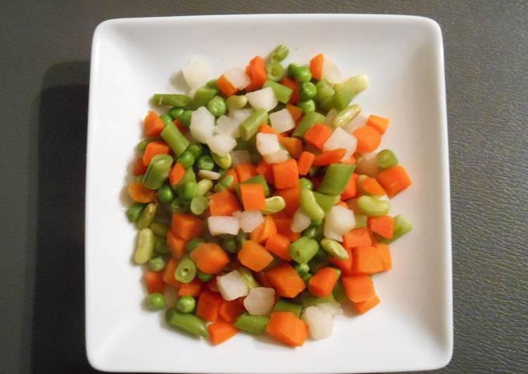 Гарнир - овощная смесь в духовке