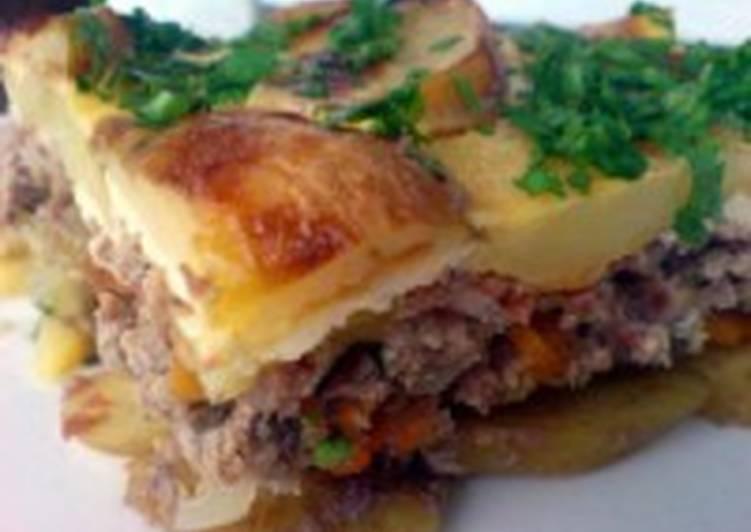 Запеканка с картофелем и мясом (в мультиварке)