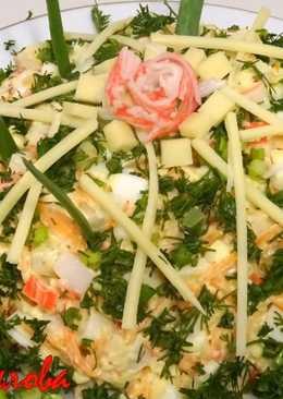 Восхитительно вкусный и простой салат с крабовыми палочками и морковью по-корейски