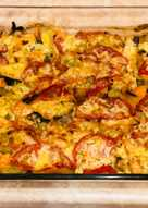 Говядина тушёная с овощами в духовке