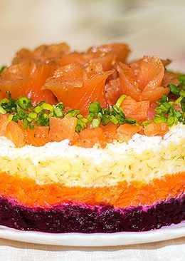 Праздничный салат Лосось на шубе