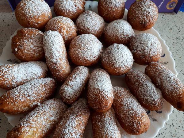 Пончики творожные с шоколадом. Ням-ням🍩🍩