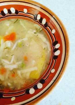 Постный суп с вермишелью и картошкой