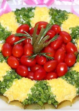 Салат из зеленого горошка с тунцом и рисом