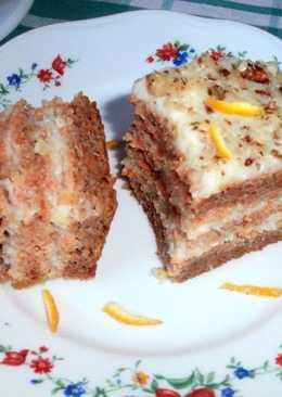 Диетический торт из моркови с необычным лимонным кремом