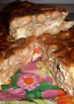 Мясной пирог с сушками