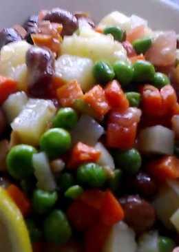 Салат домашний за 5 минут без майонеза
