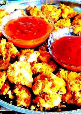 Вкуснейшие куриные наггетсы в духовке