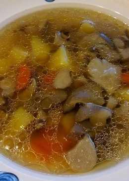 Суп грибной из вешенок или шампиньонов