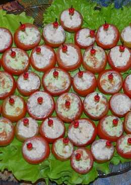 Закуска Фаршированные помидорки