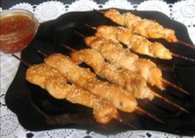 Куриные шашлычки в мармеладном маринаде
