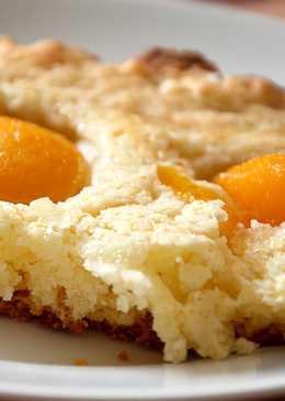 Пирог вегетарианский с консервированными абрикосами