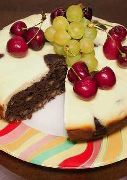 Орехово-шоколадный кекс с творогом в мультиварке