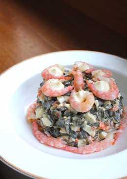 Салат из морской капусты и креветок