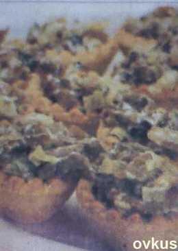 Начинка для тарталеток с курицей и грибами