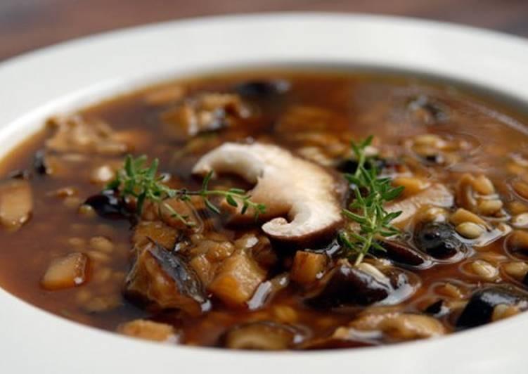 Суп грибной по-гуцульски