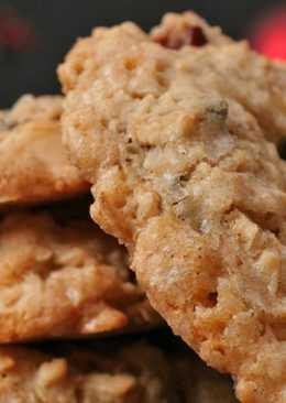 Печенье из овсяных хлопьев с мёдом и орехами
