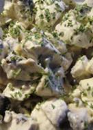 Салат к шашлыку из сырых шампиньонов