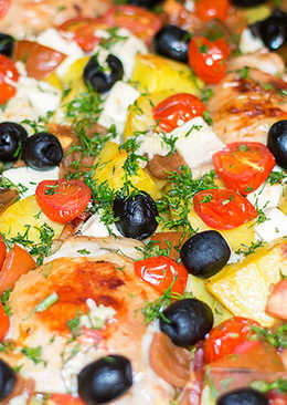 Курица с картошкой по-гречески