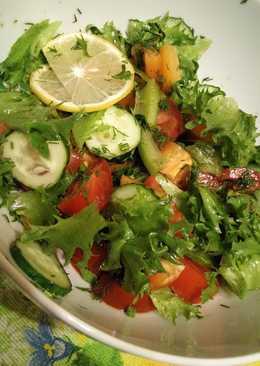 Салат к ужину из свежих овощей