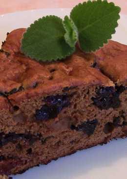 Постный пирог с кофе и черносливом
