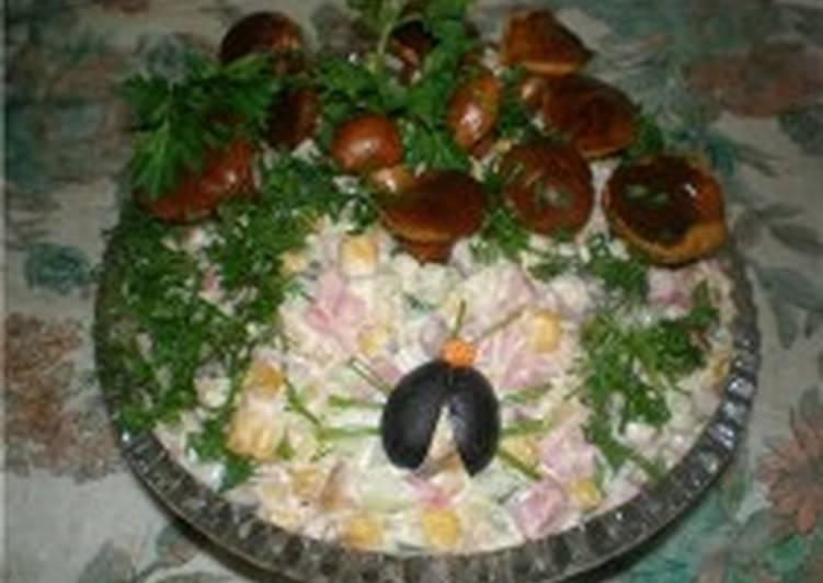Салат из шампиньонов и яиц (I)