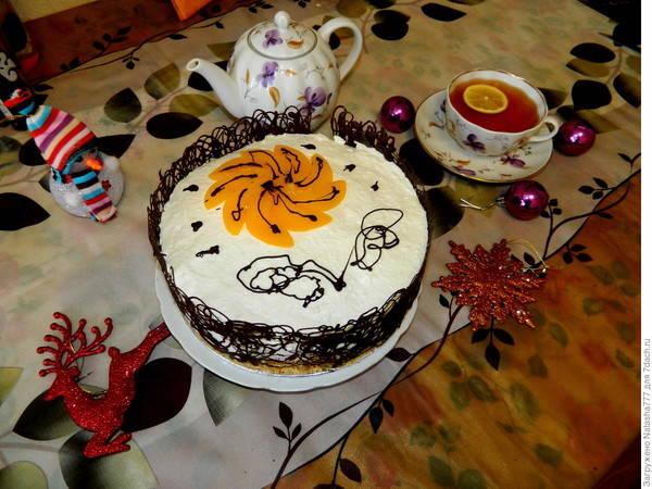 """Желейный торт """"Персиковое наслаждение"""""""